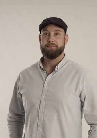 Jesper Veber Jeppesen med hat indehaver af Bygkontrol