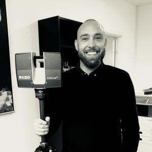 Jesper med Faro scanner
