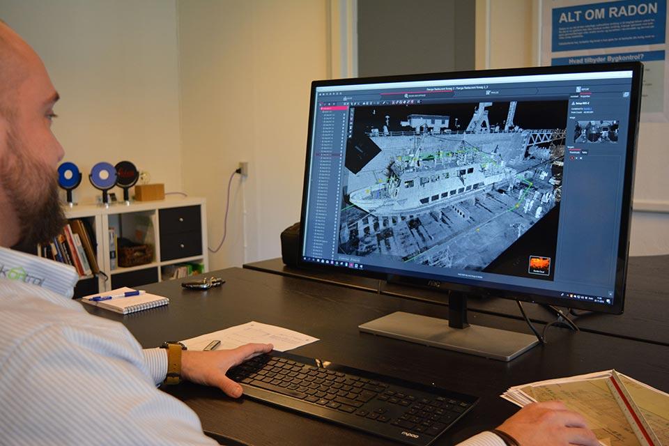 BIM model i Autodesk Recap af Harle Sand færge