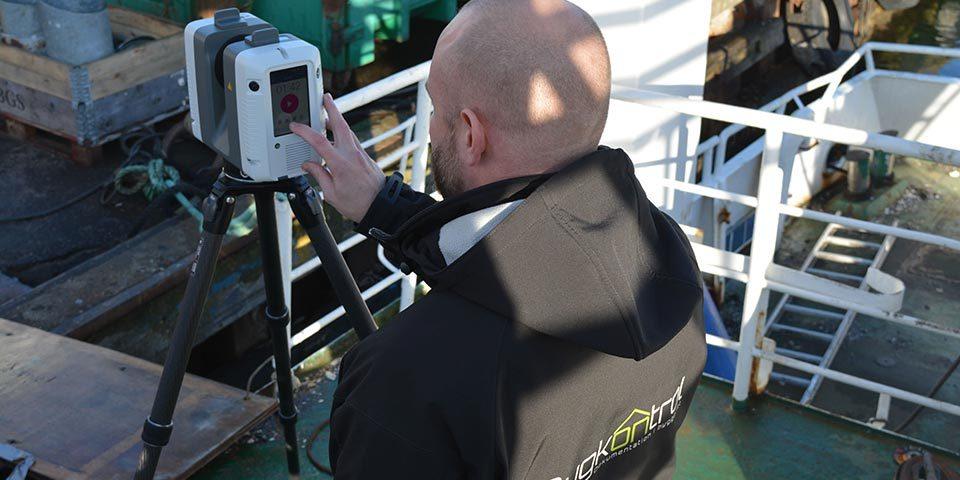Jesper Veber Jeppesen Leica 3D scanner Bygkontrol Harle sand Færgerestauranten