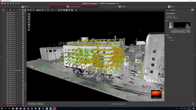 Punktsky til 3D scanning og mapping i Cyclone