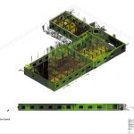 Visualisering af kompleks bygning optegnet i Revit ud fra punktsky baseret på 3D førregistrering