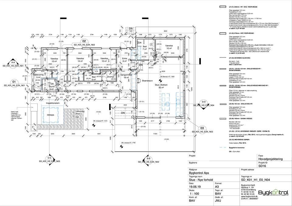 Hovedprojektering Arkitekttegningsforslag Sommerhus