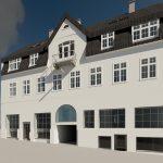 3D Visualisering af projekteret byggeri