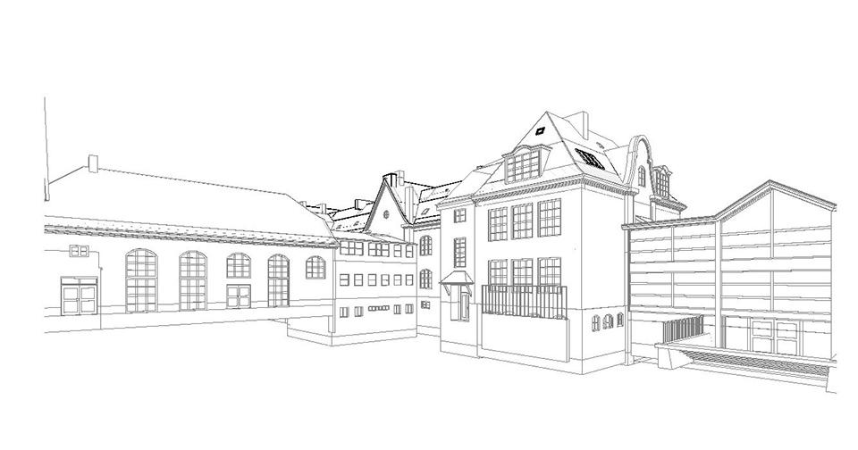 Oerkildskolen stregtegning arkitektegning