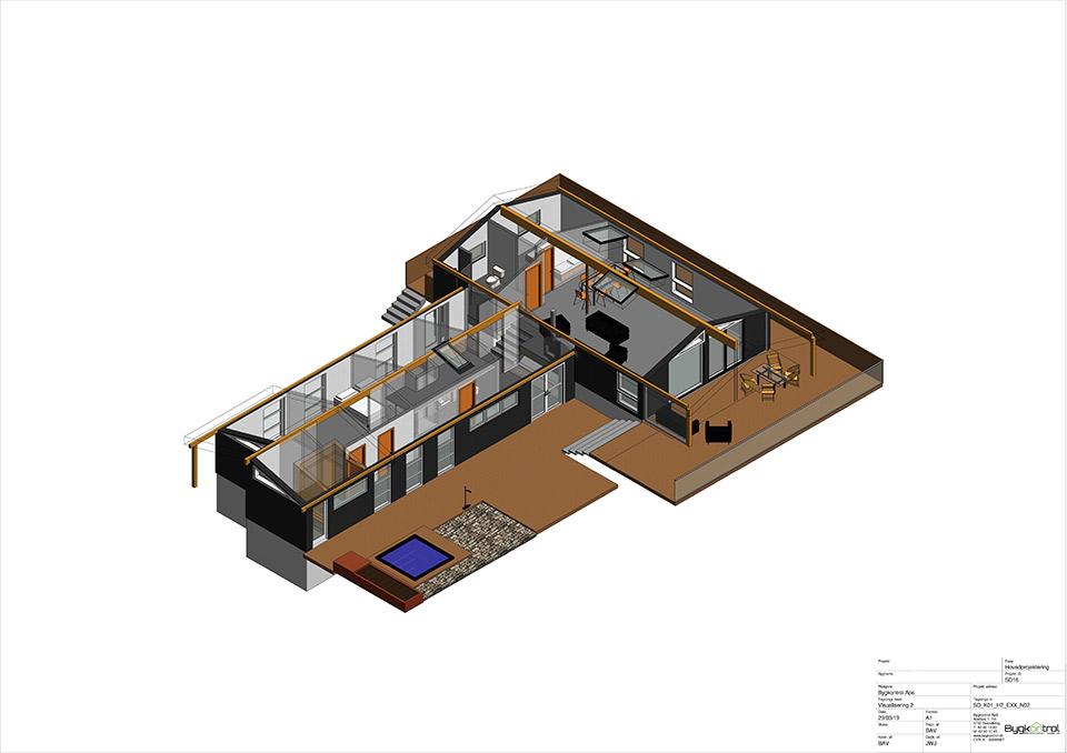 Visualisering af arkitekttegning