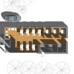 Visualisering projektering plantegning stueplan GF Forsikring Bygkontrol