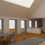 Visualisering projektering 1 sal GF Forsikring Bygkontrol