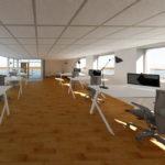 Visualisering projektering kontor GF Forsikring Bygkontrol