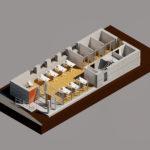 Visualisering projektering stueplan GF Forsikring Bygkontrol