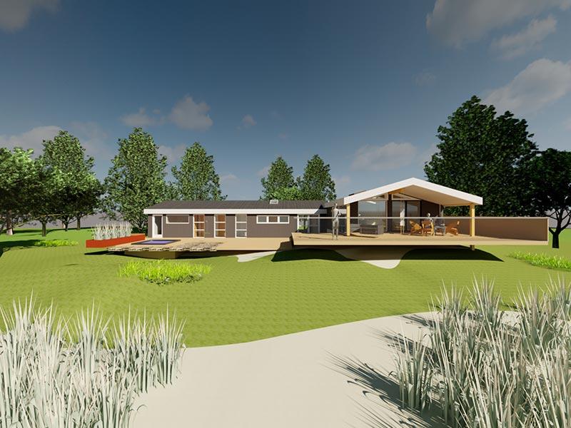 Projektering og visualisering af sommerhus for Idearkitekten