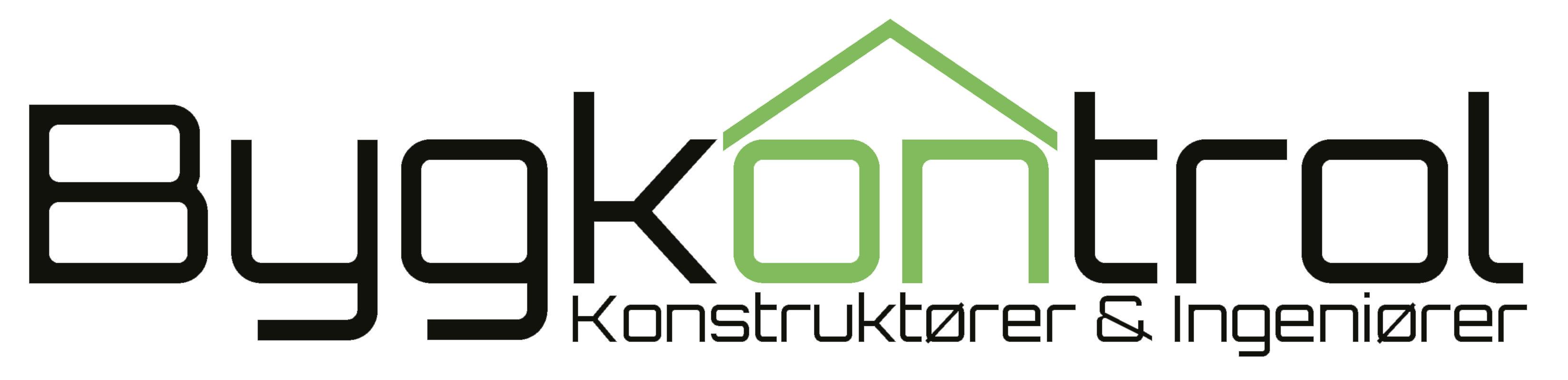 Bygkontrol logo sort tekst - konstruktoerer og ingenioerer